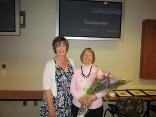 Retiring Member Barbara Monty with Susan Brantley