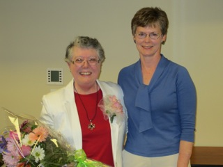 50-Year Member Joan Scott with Pat Handley