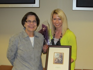 Recognized Young Dietitian Kristen Slusher with Kathy Mount